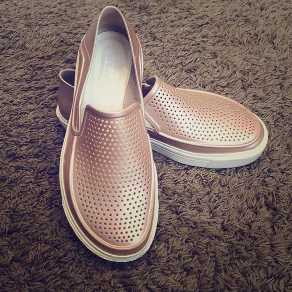 b2b4bf81f73f CROCS Shoes - Women s Crocs CitiLane Roka Metallic Slip-Ons